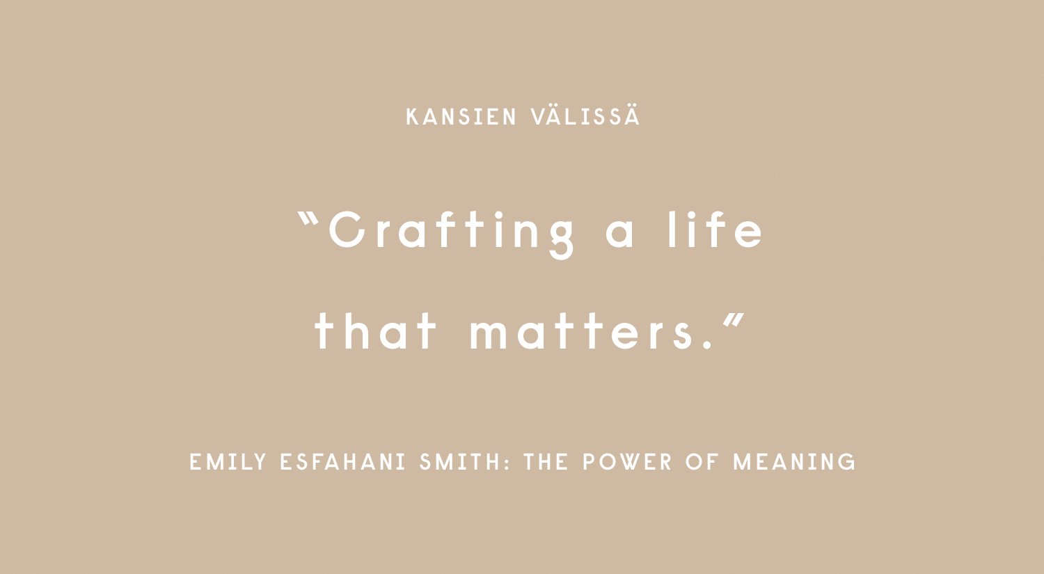 Emily Esfahani Smith: The Power of Meaning